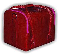 Чемодан, маникюрная сумка для мастера, кож.зам, лак, бордовый цвет, фото 1