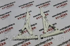 Рычаги треугольные на полиуретановых сайлентблоках ВАЗ 2110, 2111, 2112, 1118 Калина, 2170 Приора STINGER