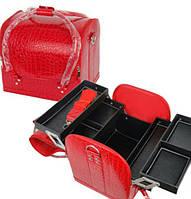 Чемодан большой, маникюрная сумка для мастера, кож.зам, лак, цвета в ассортименте, фото 1