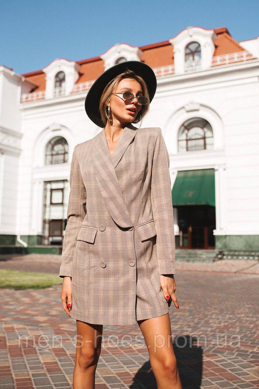 Двубортное платье - пиджак «Манхэттен» две расцветки