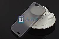 Чехол силиконовый TPU матовый Huawei Ascend G7 серый