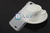 Чехол силиконовый TPU матовый Huawei Ascend G7 белый