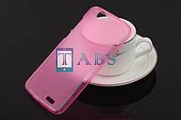 Чехол силиконовый TPU матовый Huawei Ascend G7 розовый