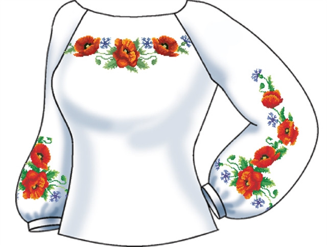 СВЖЛ-31. Заготовка Жіноча сорочка лляна