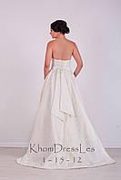 Платье свадебное из жакардовой ткани