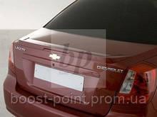 Lip Spoiler (лип спойлер багажника - шабля) Chevrolet lacetti (шевроле лачетті 2004+)