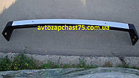 Бампер Ваз 2107 передний с хромом без кронштейнов  (производитель Пластик, Россия)