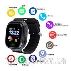 Умные детские часы Smart Baby Watch Q90 с GPS трекером (Оригинал) темно синие, фото 2