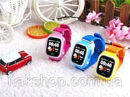 Умные детские часы Smart Baby Watch Q90 с GPS трекером (Оригинал) темно синие, фото 3