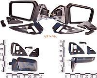 Зеркало правое, левое ВАЗ 2108, 2109, 21099, с уголками и винтами антиблик, комплект 21083-8201004-00 (ДААЗ)