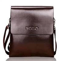 Кожаная сумка Polo через плечо деловая