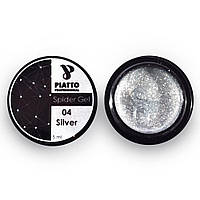 Гель-паутинка Серебро/ Silver 5г PIATTO, фото 1