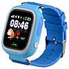 Розумні дитячі годинник Smart Baby Watch Q90 з GPS трекером темно-сині оригінал, фото 2