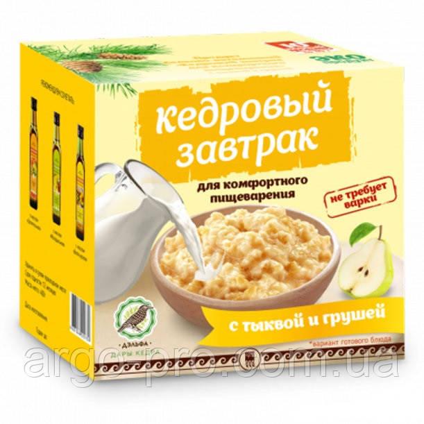 Завтрак кедровый для комфортного пищеварения с тыквой и грушей Арго (гастрит, запоры, холецистит, дискинезия)