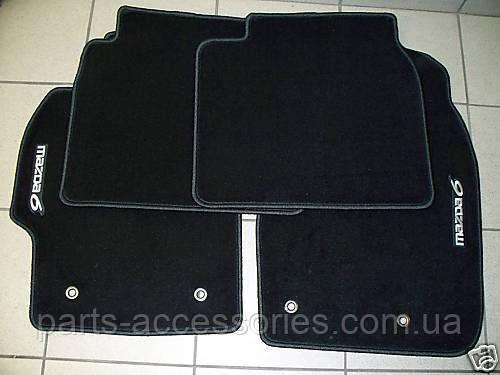 Mazda 6 коврики велюровые черные передние задние новые оригинал 2009-2014