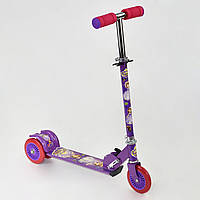 Самокат детский 466-363 Фиолетовый София Металлический Колеса PVC 12.5см Быстрая доставка, фото 1