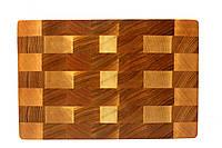 Кухонная торцевая разделочная доска 28,5х19х2,5 см 1313 , фото 1