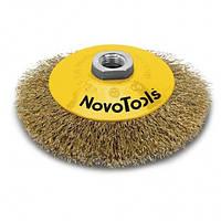 Щітка конусна NovoTools (100 мм, гофрований дріт) (NTBWB10014BC)
