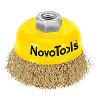 Щітка чашкова NovoTools (100 мм, гофрований дріт) (NTWB10014BC)