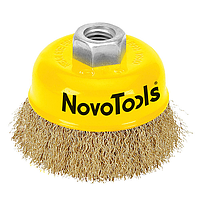 Щітка чашкова NovoTools (125 мм, гофрований дріт) (NTWB12514BC)