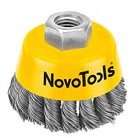 Щітка чашкова NovoTools (85 мм, плетений дріт) (NTWB8514ST)