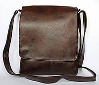 Мужская сумка коричневая под документы А4 через плечо