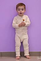 Термокомбинезон из шерсти мериноса цвет Natural, MaM ManyMonths, фото 1