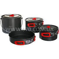 Набор посуды Alocs CW-RT07 (3 кастрюли, сковорода)