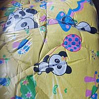 Одеяло детское в кроватку с подушкой 45х45. размер 100х140 силикон расцветки в ассортименте