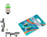 Лампа T4W 12В 0,45Вт BA9s, передних габаритов малая зеленая LED, комплект (Китай). T8,5