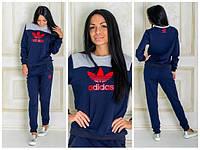 """Спортивный костюм """"Adidas"""" синий с серой вставкой № 1172  а.и"""