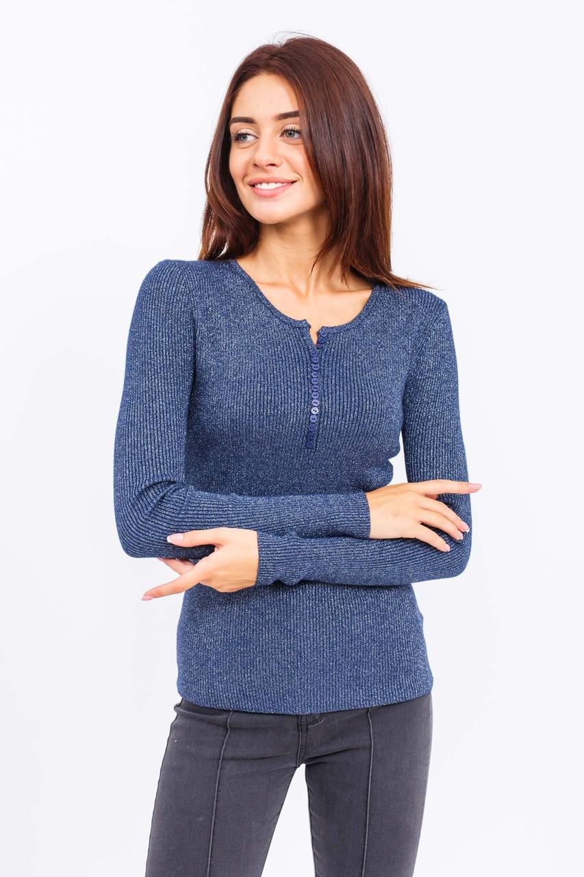 Джемпер декольте на пуговицах JUST WOMEN - темно-синий цвет, L (есть размеры)