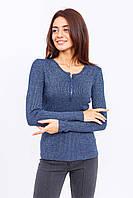 Джемпер декольте на пуговицах JUST WOMEN - темно-синий цвет, L (есть размеры), фото 1