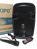 Акустическая стерео система колонка портативная комбоусилитель с микрофоном и пультом ДУ KIPO KB-Q5