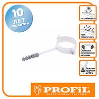 Держак труби Profil метал. L100 130 білий