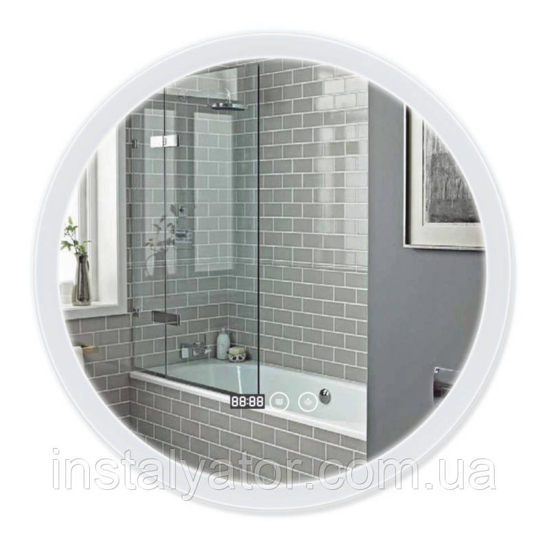 ЗеркалосантизапотеваниемQ-tapMideyaLEDDC-F807600х600 мм