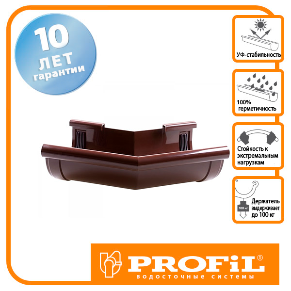 Кут Profil зовнішній 130 коричневий Z 135°