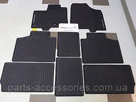 Toyota Sienna 2013-15 підлогові килимки гумові передні задні комплект новий оригінал