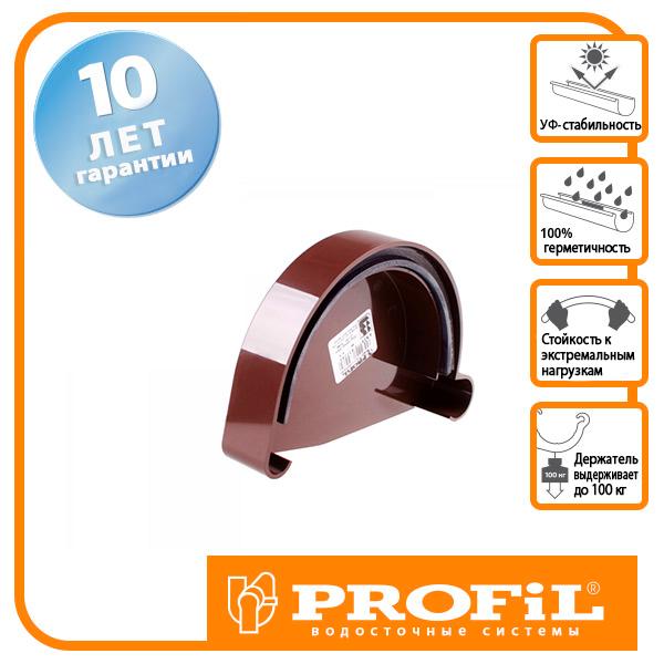 Заглушка ринви Profil ліва L 90 коричнева