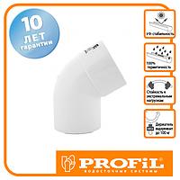Коліно Profil 75 біле
