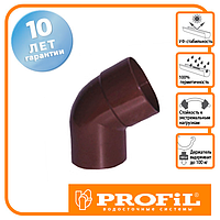Коліно Profil 75 коричневе