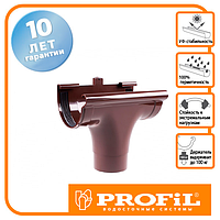 Лійка Profil прохідна 90 коричнева