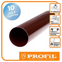 Труба водостічна Profil 75 коричнева 3м