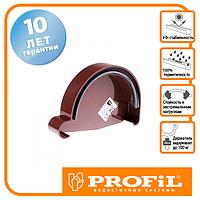 Заглушка ринви Profil права Р 90 коричнева