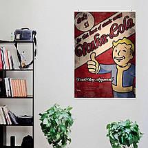 "Постер ""Fallout. Vault Boy Approved!"". Волт-Бой, Nuka-cola, Фаллаут. Размер 60x42см (A2). Глянцевая бумага, фото 2"