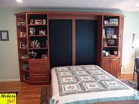 Шкаф-кровать в комплекте со стенкой в классическом стиле, фото 1