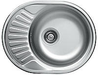 Мойка кухонная стальная Platinum 57 х 45 матовая (53880)