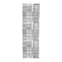 ИКЕА (IKEA) AKVELINA, 104.245.55, Узкая гардина, белый, серый, 60x300 см - ТОП ПРОДАЖ