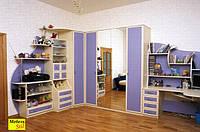 Угловой комплект со шкафом-кроватью и письменным столом, фото 1