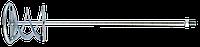 Мешалка TOPEX для строительных растворов, 120 мм, М14, сменный инструмент для электроинструмента (22B002)